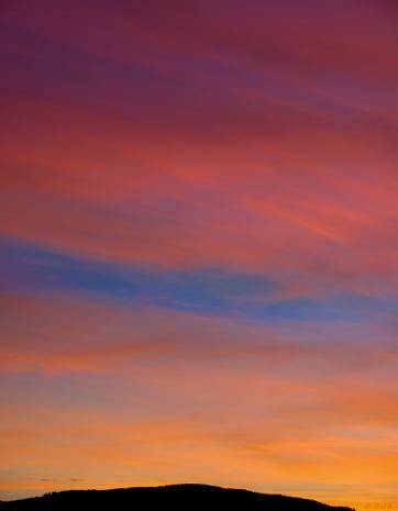 Sunset over Bell Hill