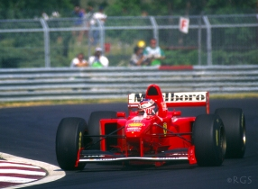 7 time F1 World Champion Michael Schumacher 1st year at Ferrari/Montreal, Quebec